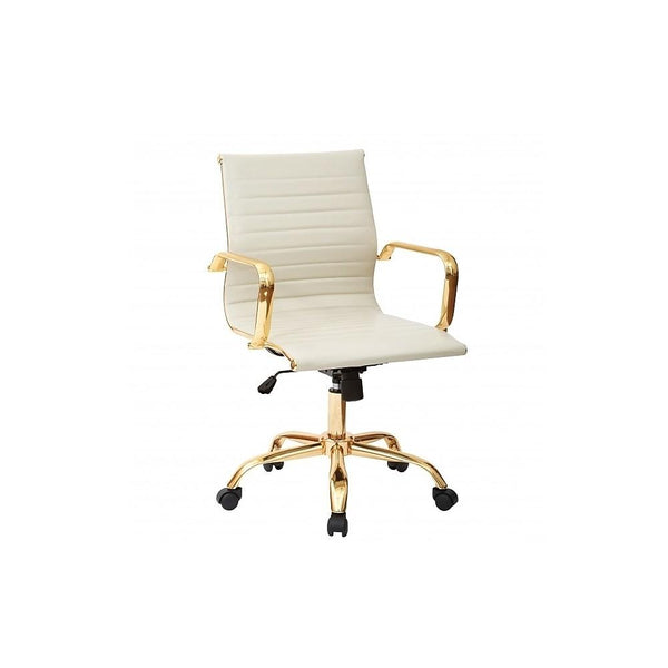 Toni Low Back Gold Office Chair - Dream art Gallery