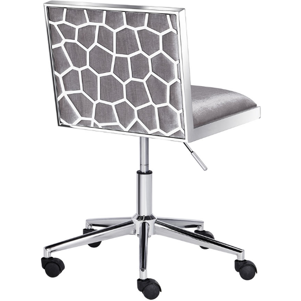 Wellington Grey Velvet Office Chair