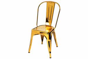 Russel Gold Dining Chair - Dream art Gallery