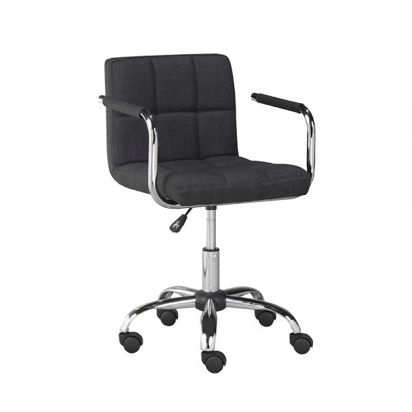 Selena Office Chair: Grey Fabric - Dream art Gallery