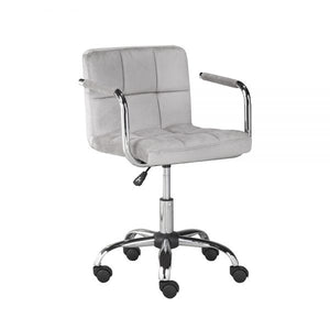 Selena Office Chair: Grey Velvet - Dream art Gallery