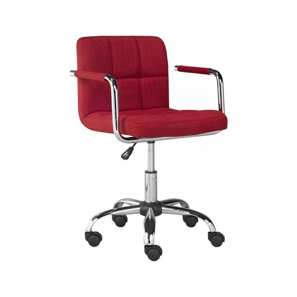 Selena Office Chair: Red Fabric