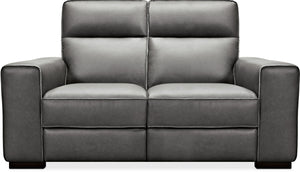 Hooker Furniture Living Room Braeburn Leather Loveseat w/PWR Recline PWR Headrest - Dreamart Gallery