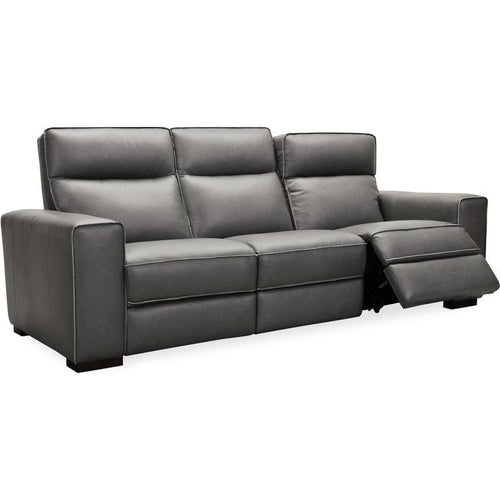 Braeburn Leather Sofa w/PWR Recline PWR Headrest