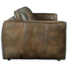 Load image into Gallery viewer, Solace Leather Stationary Sofa Brown
