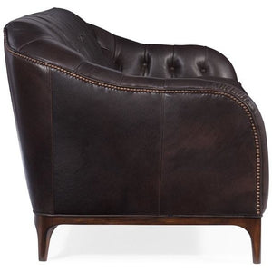 Mozart Leather Stationary Sofa - Dream art Gallery