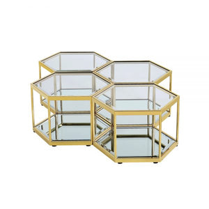 Swainson Gold Coffee Table - Dream art Gallery