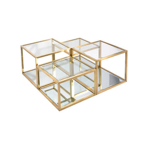 Multi-Level Gold Coffee Table