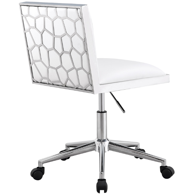 Wellington White Leatherette Office Chair - Dream art Gallery