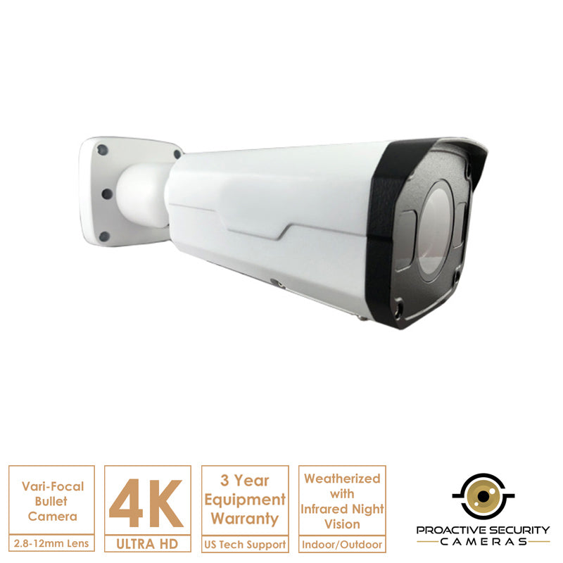 High-def 4K ultra bullet camera.