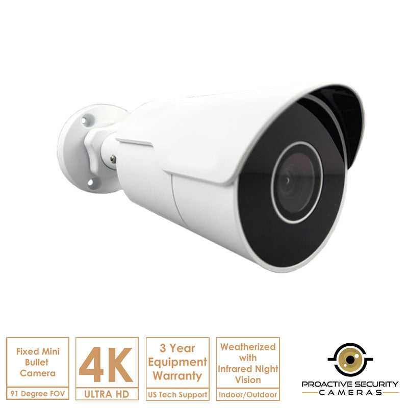 Mini bullet camera, perfect for indoor and outdoor coverage.