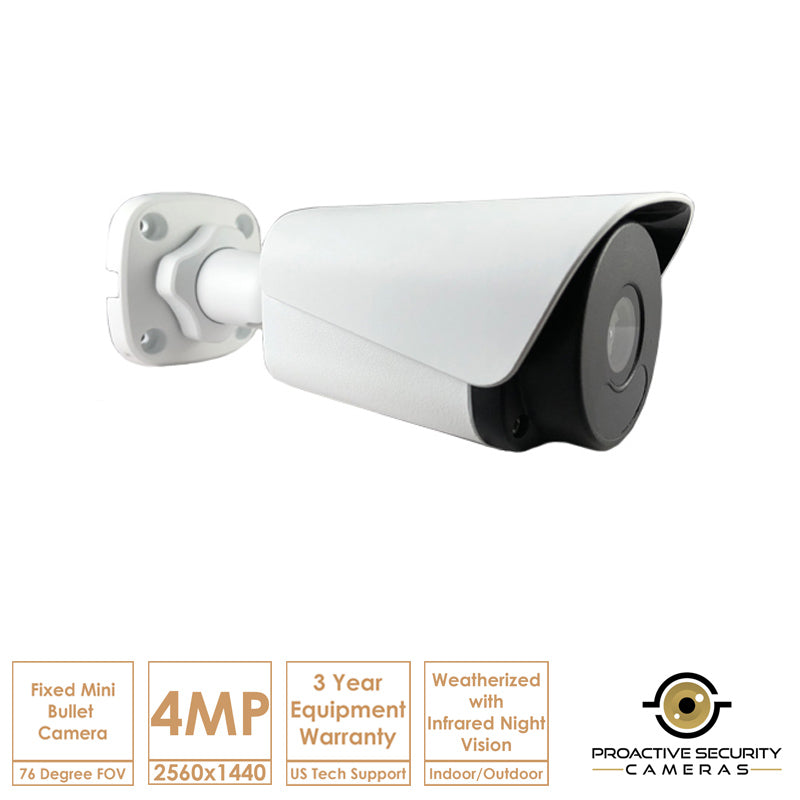 Fixed lens mini bullet camera.