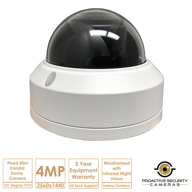 High-Definition IP Surveillance Camera System with 2 4MP Cameras and NVR