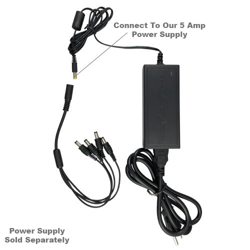 Power multiple security devices with one adapter.