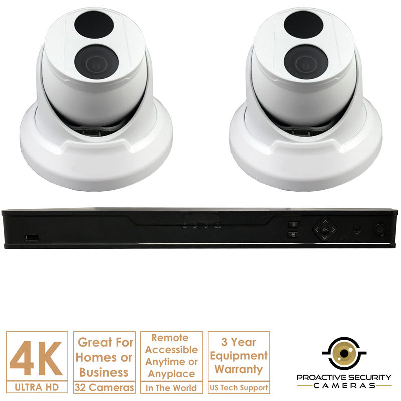 4K Ultra 32 Channel IP NVR Surveillance Camera System with 32 Cameras
