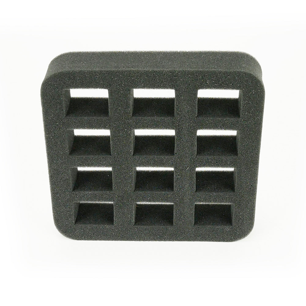 square holes - Foam Insert - Nail Polish Case