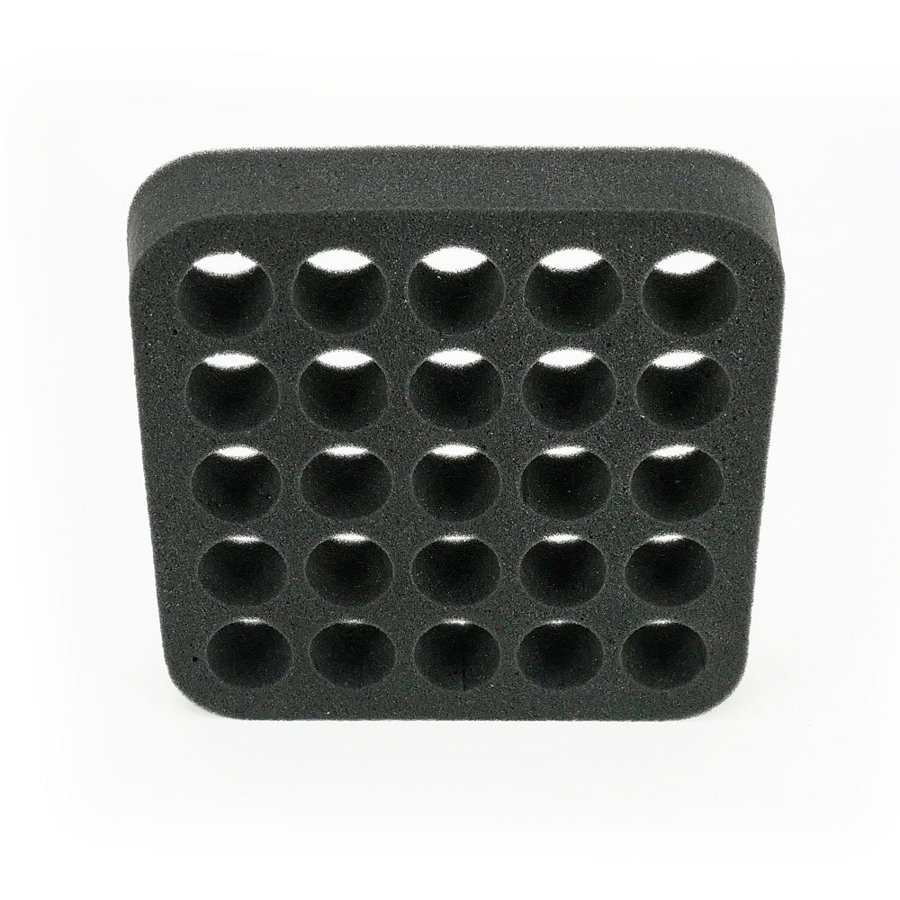 Round holes - Foam Insert - Nail Polish Case