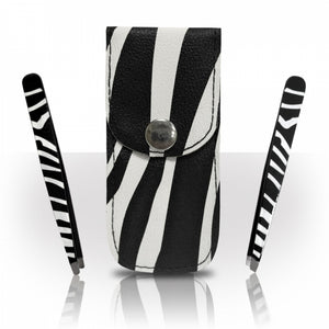 Zebra Tweezers Set and Case