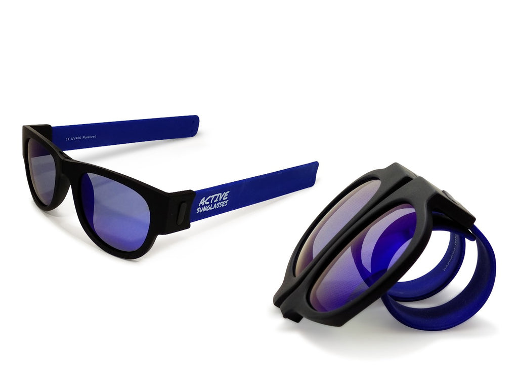 Active Sunglasses - Blue - Deep Blue Mirror