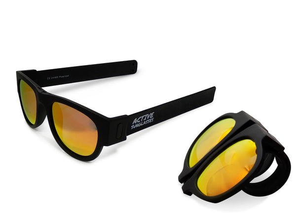 Active Sunglasses - Black - Fire Iridium Mirror