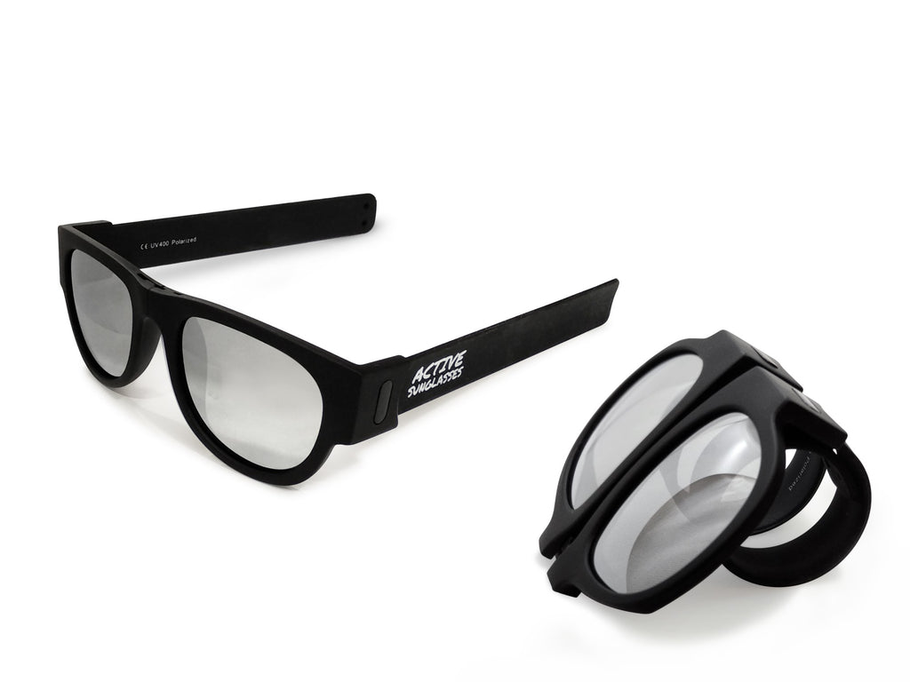 Active Sunglasses - Black - Silver Mirror