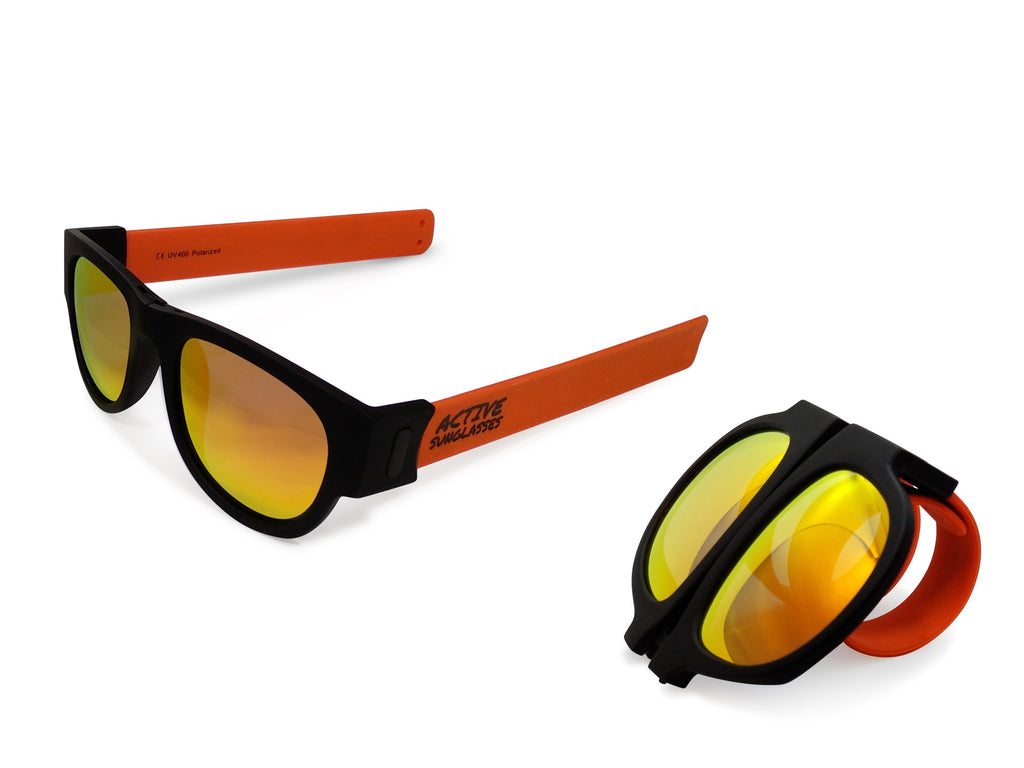 Active Sunglasses - Orange - Fire Iridium Mirror