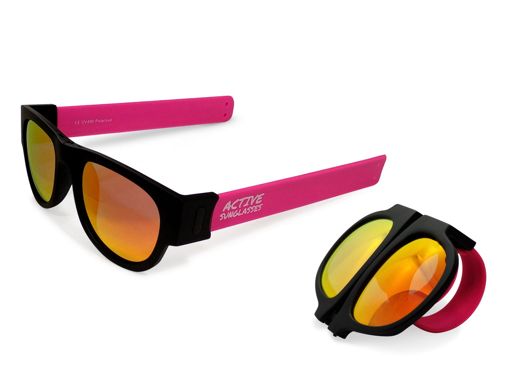 Active Sunglasses - Pink - Fire Iridium Mirror