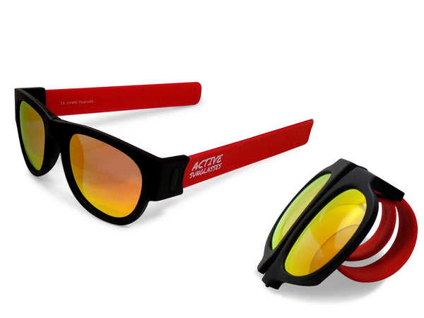 Active Sunglasses - Red - Fire Iridium Mirror