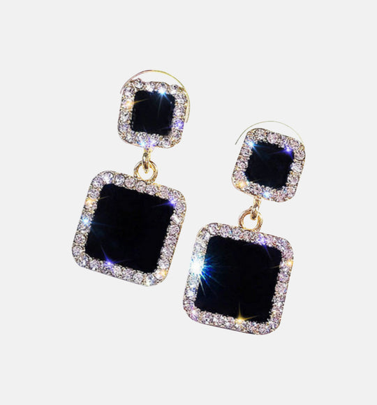 DIANNA BLACK ROMANTIC BLING EARRINGS