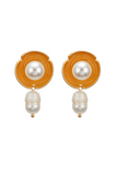 GOLD PEARL MINIMALISTIC EARRINGS