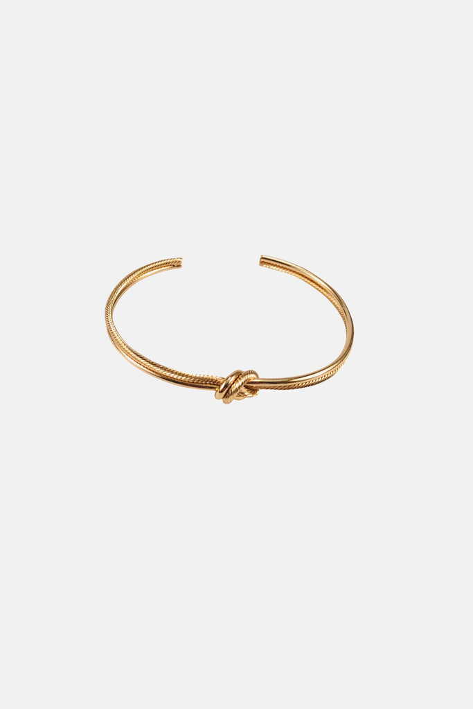GOLD COLORED KNOT BRACELET - Jewelry On Sale | Mehmory