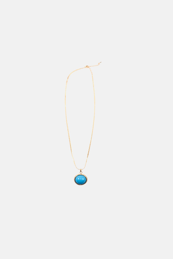HEAVENLY BLUE STONE GOLD NECKLACE