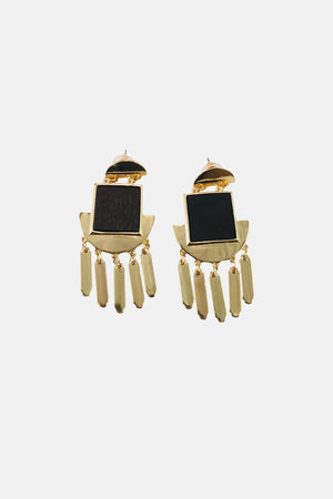 Gold Ego Drop Earrings - Fashion Jewelry For Sale | Mehmory