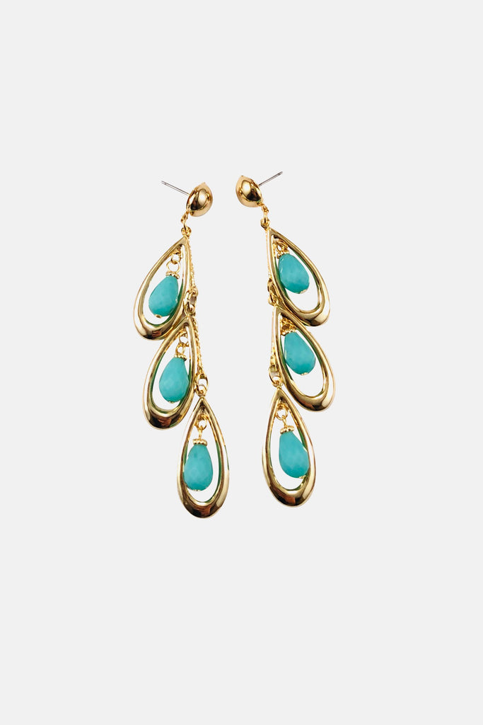 Drops Of Turquoise Earrings - Fashion Jewelry For Sale | Mehmory