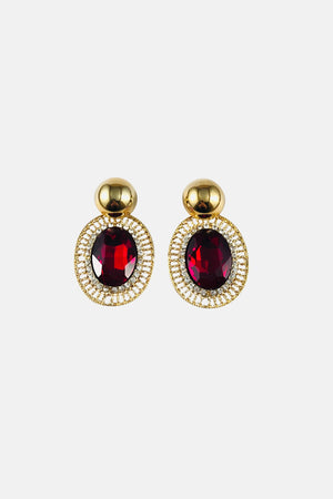 Sparkle Red Drop Earrings - Fashion Jewelry For Sale | Mehmory