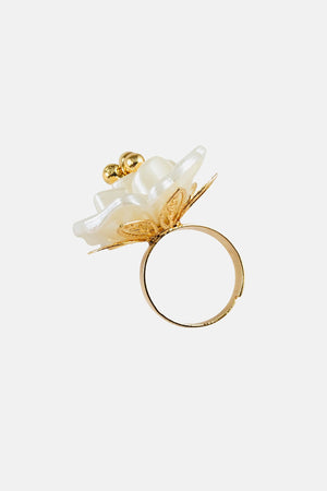 Worthy Blossom White Ring - Jewelry For Sale | Mehmory