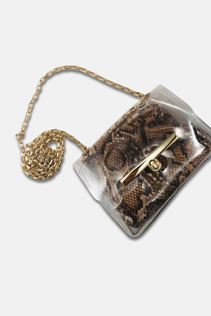 TRANSPARANT MINI BAG SNAKE