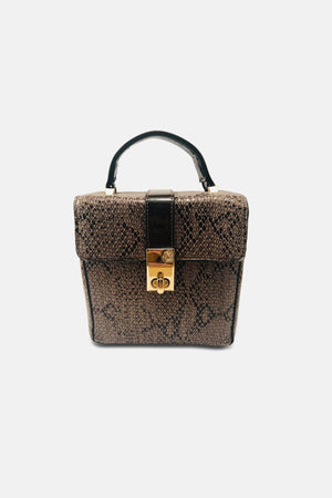 Happy Snake Leather Handbag - Fashion Bags For Sale | Mehmory