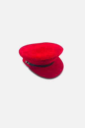 LAST WORLD SUEDE SAILOR CAP