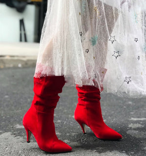 RED CARPET SUEDE BOOTS