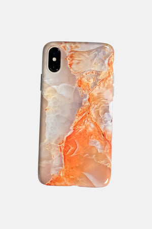 NUDE ORANGE MARMER EFFECT IPHONE CASE