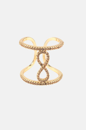 Hourglass Golden Ring - Jewelry For Sale | Mehmory