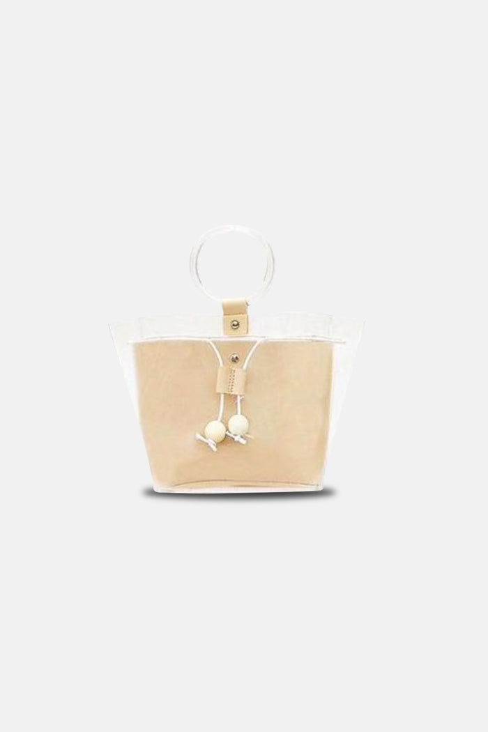 RING HANDLE TRANSPAReNT BAG WITH INNER BAG