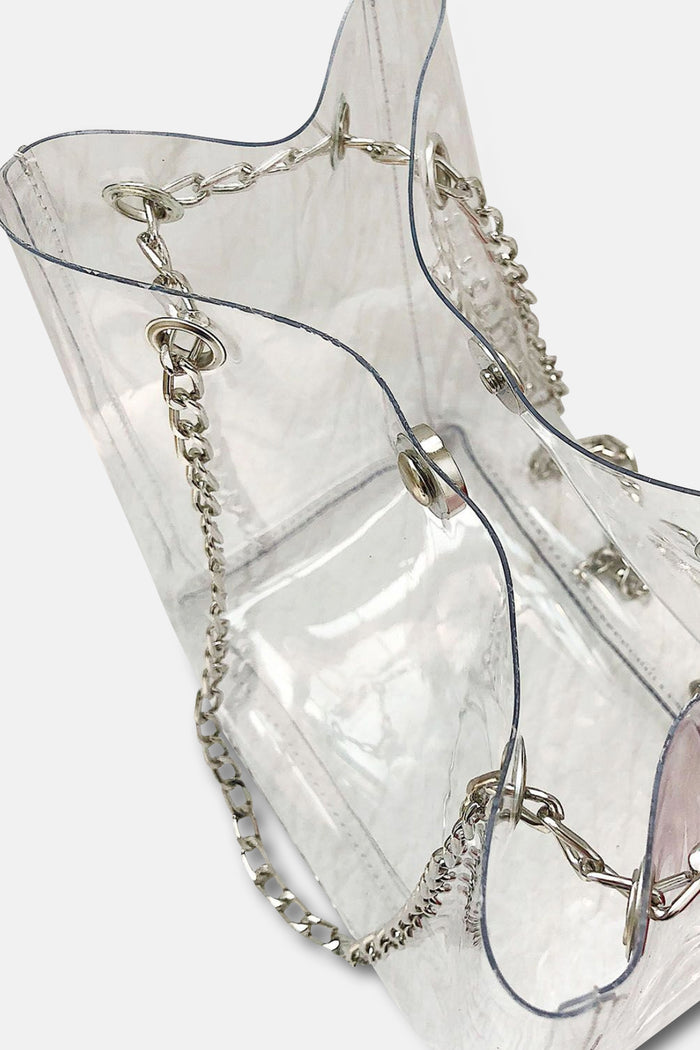 TRANSPARENT WITH BLACK INNER BAG