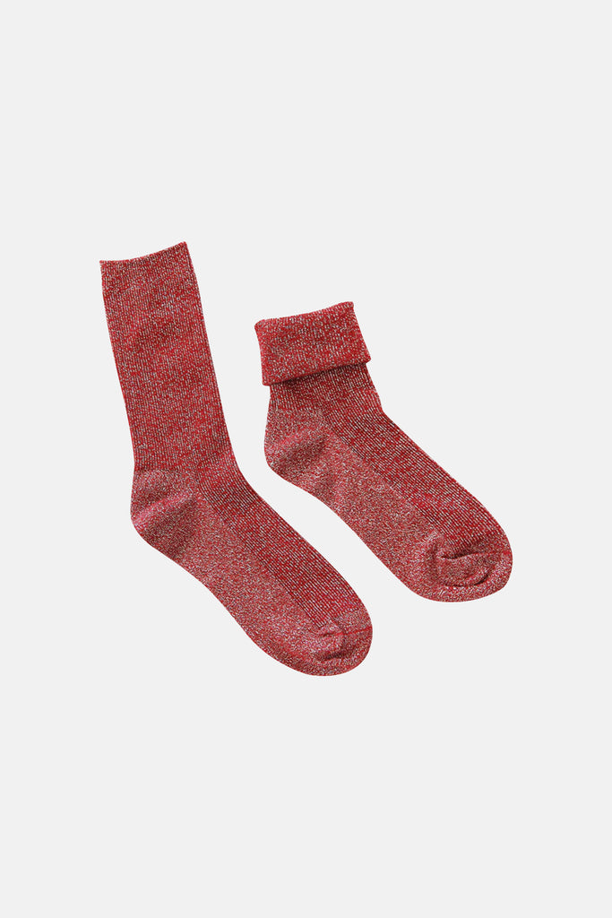 GLITTER RED SOCKS