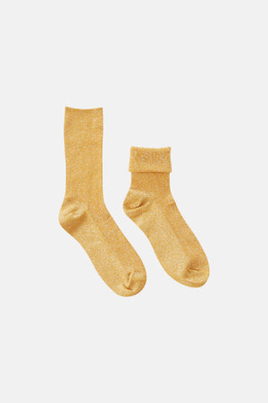 GLITTER YELLOW SOCKS
