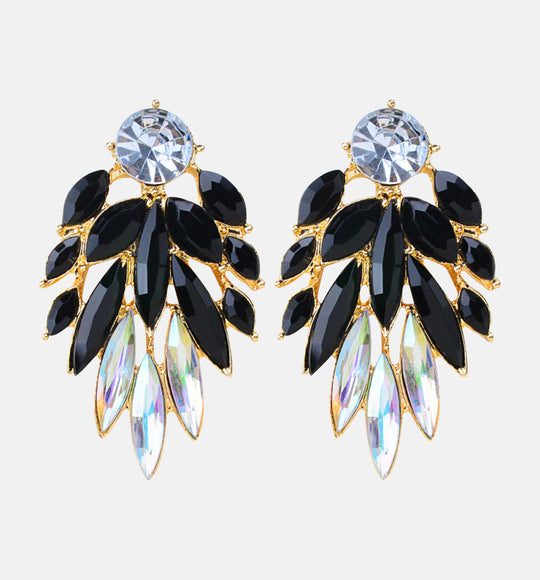 BLACK CHIQ EARRINGS
