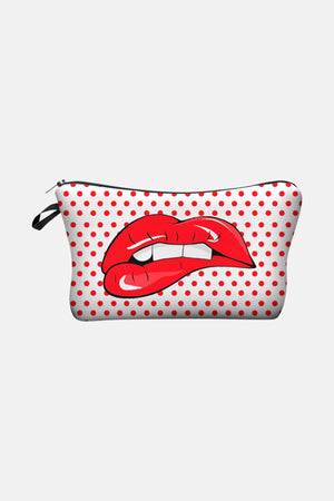 LIPS WITH DOTS BAG