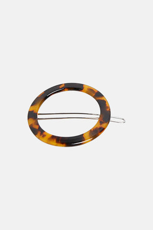 TORTOISE SHELL RING HAIR CLIP