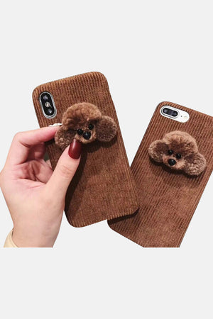 BROWN FLUFFY DOG IPHONE CASE